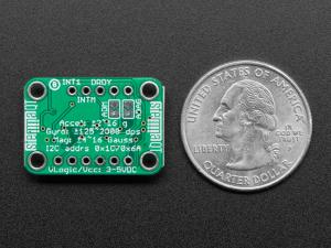 Breakout senzori Adafruit LSM6DSOX + LIS3MDL2