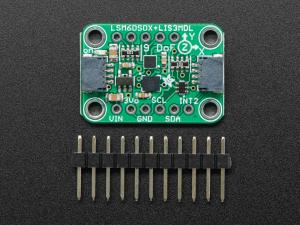 Breakout senzori Adafruit LSM6DSOX + LIS3MDL1