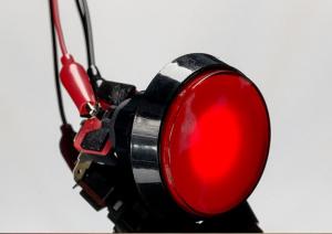 Buton Arcade cu LED rosu - 60mm1