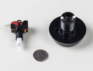 Buton Arcade cu LED rosu - 60mm2