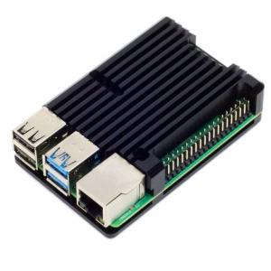Carcasa radiator Pimoroni din aluminiu pentru Raspberry Pi 4 - Negru0