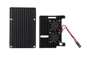 Carcasa aluminiu cu doua ventilatoare pentru Raspberry Pi 4 model B5