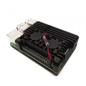 Carcasa aluminiu cu doua ventilatoare pentru Raspberry Pi 4 model B0