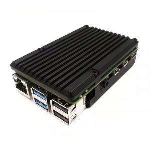 Carcasa aluminiu cu doua ventilatoare pentru Raspberry Pi 4 model B4