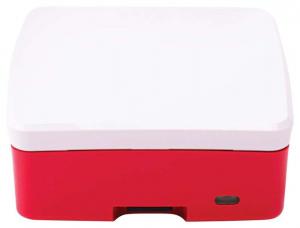 Carcasa oficiala Raspberry Pi 4 Model B - rosu/alb4