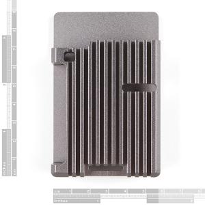 Carcasa radiator Pimoroni din aluminiu pentru Raspberry Pi 4 - Gri3