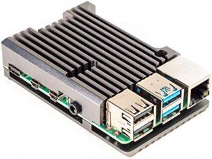 Carcasa radiator Pimoroni din aluminiu pentru Raspberry Pi 4 - Gri