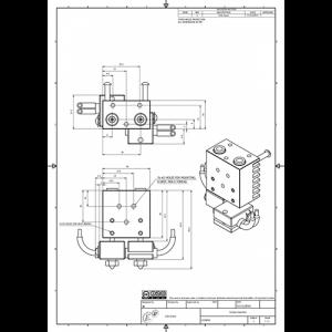 Kit extrudor Dual Chimera Plus cu Hot end si dubla extrudare, racire cu aer, 12V6
