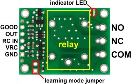 Comutator RC Pololu cu releu - asamblat5