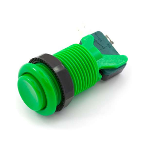 Buton concav verde0