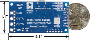 Driver simplu de motor Pololu G2 24v124