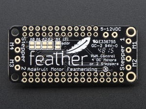 DC Motor + Stepper Shield pentru Feather3