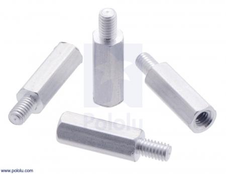 Distantiere din aluminiu pentru Raspberry Pi 11mm x 4mm M2.5 - 4 buc [2]