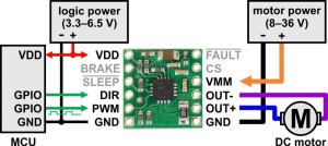 Driver motor DRV8801 [3]