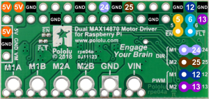 Dual MAX14870 Motor Driver pentru Raspberry Pi (Partial Kit)4