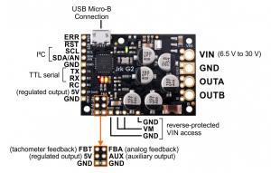 Controlor de motor USB Jrk G2 18v27 cu feedback8