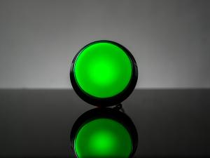 Buton Arcade cu LED verde - 60mm0