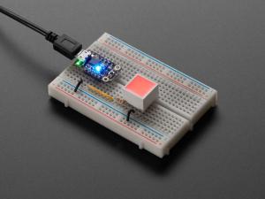 LED patrat, indicator cu lumina rosie, difuza [3]