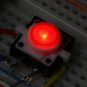 Buton tactil cu LED - Rosu [3]