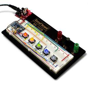 Buton tactil cu LED - Rosu4