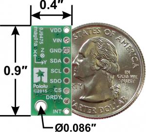 Magnetometru pe 3 Axe cu Regulator de tensiune - LIS2MDL1