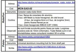 Conector roata motor 6 mm6