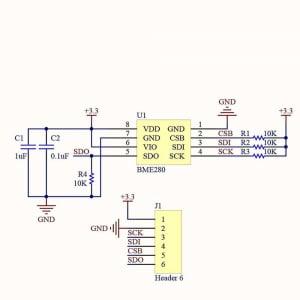 Modul senzor presiune atmosferica/altimetru ME-BME2801