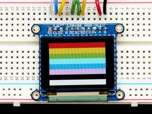 """OLED Breakout Board - 16-bit Color 1.27"""" w/microSD0"""