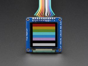 """OLED Breakout Board - 16-bit Color 1.5"""" w/microSD0"""