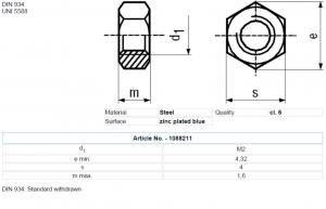 Set piulita otel 2mm (M2) (10 bucati)1