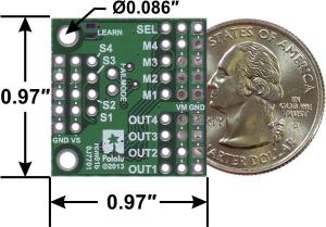 Pololu 4-Channel RC Servo Multiplexer (Partial Kit) [2]