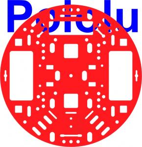 """Sasiu Pololu 5""""  RRC04A Solid Rosu0"""