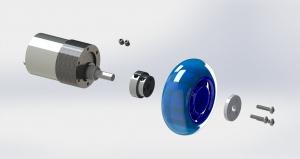 Conector roata (trotinete,role) cu ax 6mm4