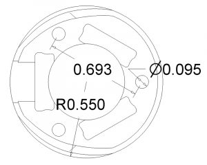 Ball Caster 25.4 mm plastic [2]