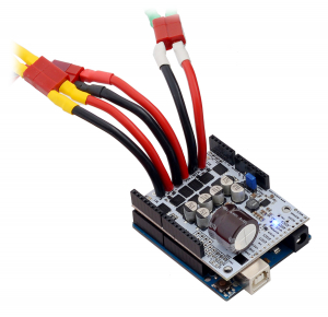 Pololu Dual G2 High-Power Motor Driver 18v22 Shield pentru Arduino4
