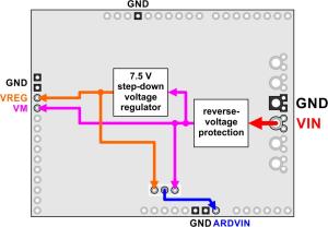 Pololu Dual G2 High-Power Motor Driver 24v18 Shield pentru Arduino [9]