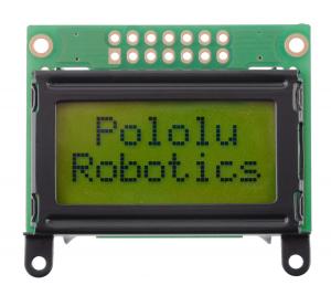 Pololu LCD 8×2 caractere, rama neagra, interfata paralela [0]