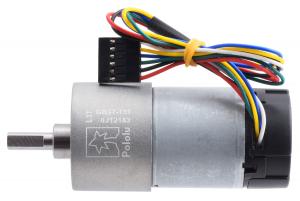 Pololu motor electric 131:1 37Dx73L 12V, codificator, pinion elicoidal [1]
