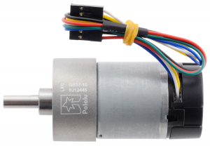 Pololu motor electric metalic, 10:1, 37Dx65L, 12V, pinion elicoidal1