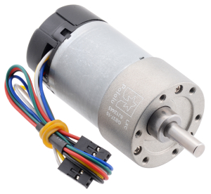 Pololu motor electric metalic, 10:1, 37Dx65L, 12V, pinion elicoidal0