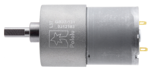 Pololu motor electric metalic, 131:1, 37Dx57L, 12V, pinion elicoidal1
