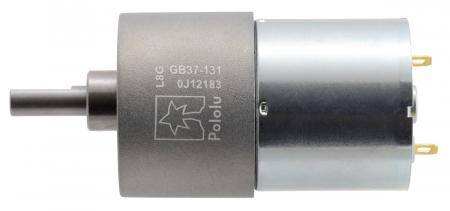 Pololu motor electric metalic 24V, 131:1, 37Dx57L, pinion elicoidal [1]