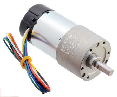 Pololu motor electric metalic 24V, 1311, 37Dx73L, pinion elicoidal,encoder [0]