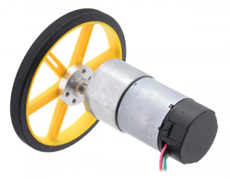 Pololu motor electric metalic 24V, 1311, 37Dx73L, pinion elicoidal,encoder [3]