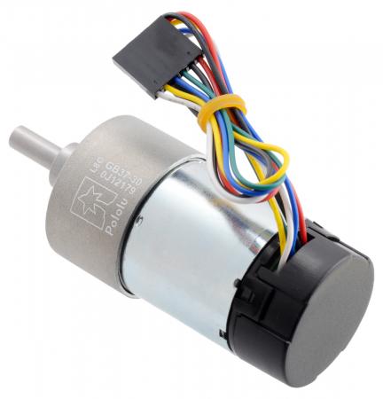 Pololu motor electric metalic 24V, 30:1, 37Dx68L, pinion elicoidal, encoder [2]