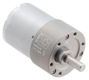 Pololu motor electric metalic, 6.3:1, 37Dx50L, 12V, pinion elicoidal [0]
