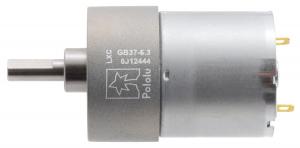 Pololu motor electric metalic, 6.3:1, 37Dx50L, 12V, pinion elicoidal [1]