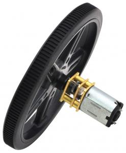 Pololu motor electric micro metal 15:1 HPCB 6V cu ax extins pentru encoder0
