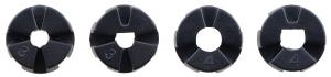 Roti Pololu cu mai multi butuci si insertii pentru axuri de 3mm si 4mm 80mm - Negru8