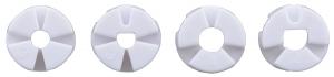 Roti Pololu cu mai multi butuci si insertii pentru axuri de 3mm si 4mm 80mm - Negru9